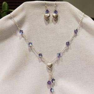 Handmade Swarovski Crystal & Sterling Set